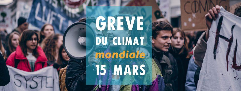 Greve du climat à fribourg: 15 mars à 14h, place Python
